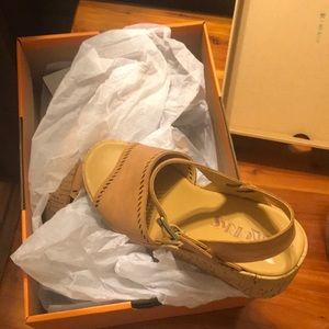 Kork Ease Brown wedge sandals